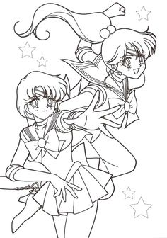 sailor mercury coloring pages  Sailor Mercury and Sail...