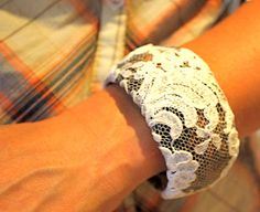 DIY Antique Lace Bangle