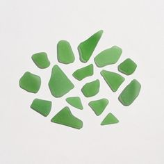 Genuine Sea Glass Frosted Sprite Green Surf Tumbled for by JanJat