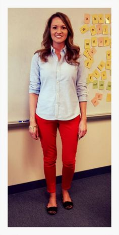Teacher Clothing Blog Chambray & Red