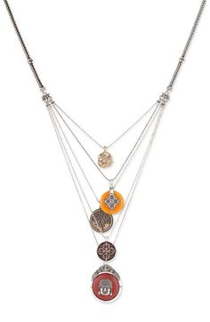Lucky Brand Multi Chain Buddha Charm Necklace. Love!