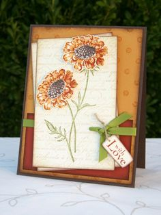 Field Flowers Card - great colors