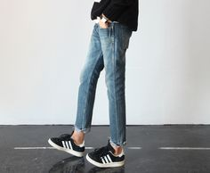 For being Adidas, this outfit is actually pretty cute! I need a pair of light wash skinny jeans in my life. Soon enough!