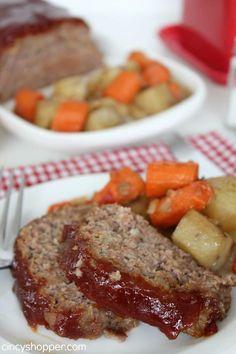 Slow Cooker Meatloaf Recipe 1