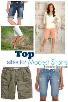 Top Sites for Modest Shorts!! Great list! flatstoflipflops.com #modest #shorts #summerstyle