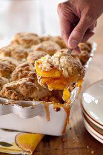 #Thanksgiving :: Peach and Cinnamon Cobbler. Ummmmm yum!
