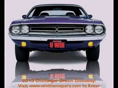 Challenger Dream Giveaway sponsored by New New Beginning Children's Homes will be providing grants to : MADD, Camp Boggy Creek ( a camp for kids with serious medical conditions) and Smile Network. Great causes- tickets $3 donation at: http://www.winthemopars.com. 1971 dodg, plum crazi, challeng giveaway, challeng dream, dodg challeng, 2013 challeng, dream giveaway, dodge challenger, 1971 challeng
