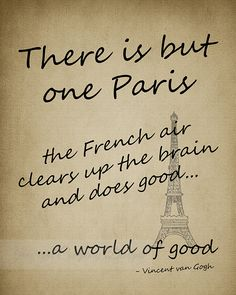 One PARIS Vincent Van Gogh Quote Art Print by JaneAndCompanyDesign, $20.00