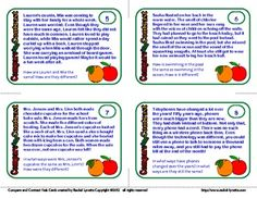 Compare and Contrast Task Cards: