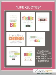 Printable Life quotes
