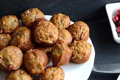 Healthy cranberry banana mini muffins