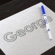 idea, names, children write, alphabet letters, printabl placemat