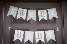 Sweet baby shower banner - #babyshower #partydecor