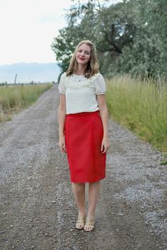 Pleated Pencil Skirt Pattern Re-Mix with A Lemon Squeezy Home - delia creates