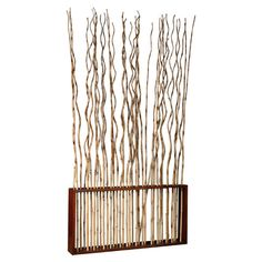 Jeffan Marissa Bamboo Room Divider - cool idea for providing visual division in a small space