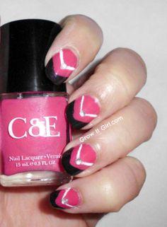 Quick & Easy Summer Manicure #growitgirl #polish #pinkmani #nailart #nails - Bellashoot.com