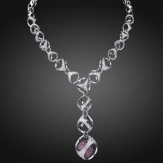 Triadra Collection 18k White Gold Necklace