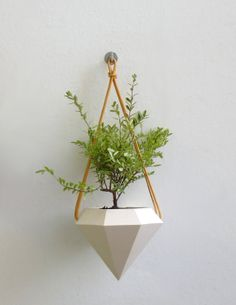 Diamond Hanging Planter by RawDezign on Etsy, £28.00
