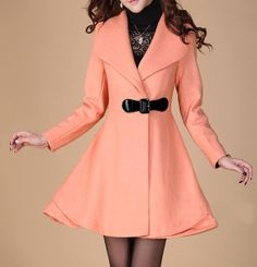Pink Long Coat Winter Coat Woman coat Long Jacket