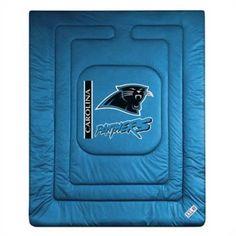 Sports Coverage 01JRCOM1PANTWIN Locker Room Carolina Panthers Twin Comforter in Panther Blue