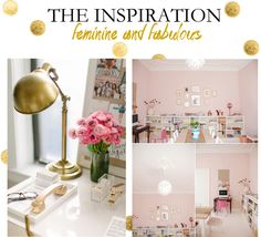 Office Inspiration | Pink and Gold office | Amanda Lackey