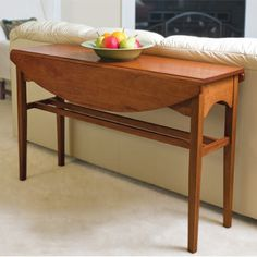 plans for a drop leaf console table for behind sofa -