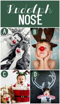 Fun Christmas Photo Props. Rudolph's nose!