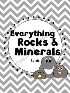 Rocks & Minerals Unit (Powerpoint, Student Notes, Test, and Activities) from FreetoTeach on TeachersNotebook.com -  (49 pages)  - Rocks & Minerals Unit (Powerpoint, Student Notes, Test, and Activities) Grades 3-5