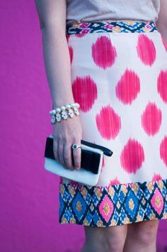 pattern blocking pencil skirt