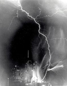 (via Retronaut - Lightning over Challenger)