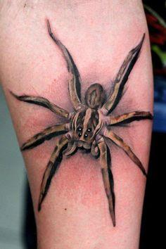 spider 3d tattoo