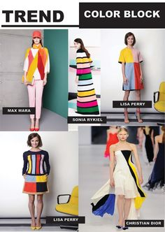 FASHION VIGNETTE: TREND REPORT // COLOR BLOCK