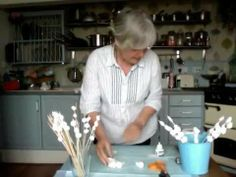 Making papier-mache beads - 3