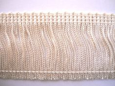 "$1.60 2"" Long Ivory Chainette Fringe Trim Rayon 029 By The Yard at Dove Originals Trims 