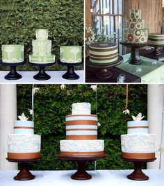 3 tiered cakes