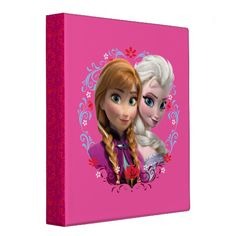 Strong Bond, Strong Heart Binder  with Anna and Elsa from Disney movie Frozen. See the rest of this board for tons of Disney Frozen apparel and gifts. #anna #elsa #frozen
