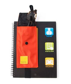 Eyeglass Case that straps to a notebook