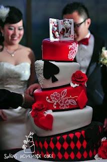 Poker Wedding cake