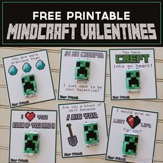 Free Printable Minecraft Valentines | Over The Big Moon