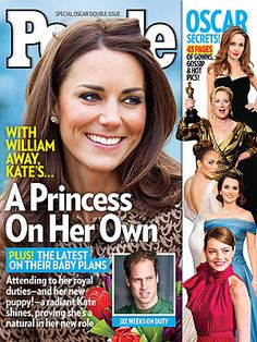 On newsstands 3/2/12: With Prince William away on a military mission, Kate is a newlywed on her own – but she's hardly sitting home alone waiting.