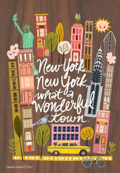 New New York by Carolyn Gavin.  www.ecojot.com  designed journal covers and print for Hurricane Sandy Relief #illustrations #stationery
