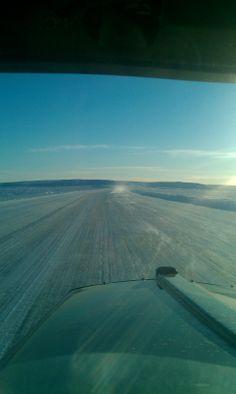 Ice Road trucking season 2014. Heading to the diamond mine above the tree line.