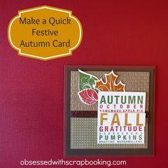 [Video]CTMH Art Philosophy Cricut Autumn Card