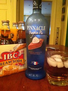 This combo is amazing! I did 1/3 vodka and then the rest cream soda it was divine! It will be the perfect fall drink. #pumpkinpie #vodka #fall