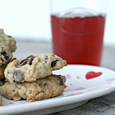Oatmeal Craisin White Chocolate Chip Cookies