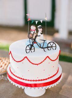 carnival wedding cake,  photo by Valentina Glidden Photography http://ruffledblog.com/brookside-equestrian-wedding #cakes #weddingcake
