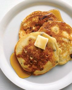 Blueberry Buttermilk Pancakes Recipe. Buttermilk makes these pancakes especially tender.