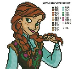 Princess Anna - Disney Frozen pattern