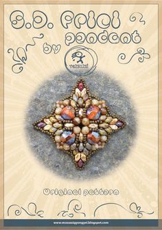 SUPERDUO PATTERNS | pendant tutorial / pattern S.D. Frici pendant with superduo...PDF ...
