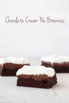 Chocolate Cream Pie Brownies from handletheheat.com